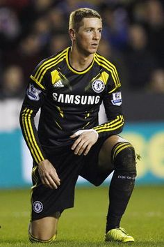 Fernando Torres. On a side note, I love Chelsea's third kit.