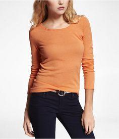 Express Womens Fine Gauge Merino Blend Sweater Sorbet, X Small