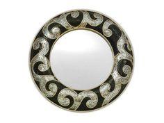 Black and Silver Swirl Mosaic Mirror