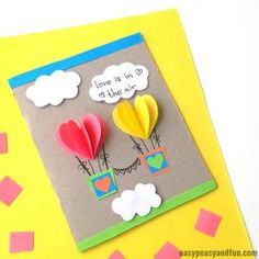 Heart Flower Card (with flower template) - Valentines and Mother's day craft idea - Cards - General - Muttertag Valentine's Day Crafts For Kids, Valentine Crafts For Kids, Fathers Day Crafts, Art For Kids, Kinder Valentines, Valentines Diy, Valentine's Cards For Kids, Flower Template, Mothers Day Cards