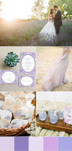 romantic lavender wedding color palettes