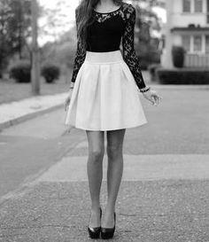 high waisted skirt. black