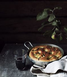Traditional focaccia with olive oil, salt and rosemary.