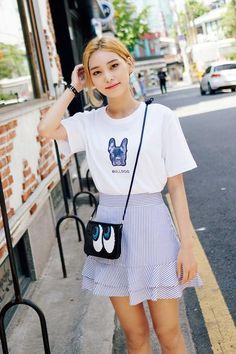 Stripe Frill Skirt