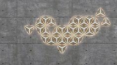 parede SJ by Alexander Fitzpatrick: The Light Garden Interior Lighting, Lighting Design, 3d Wall Tiles, I Love Lamp, Modern Design, Set Design, Wall Lights, Product Launch, Diy Crafts