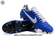 Ocean Blue-White Nike Tiempo Legend IV Elite FG