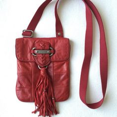 Juicy Couture red crossbody (leather) 🌷Please Read the description! Thanks!🌷  It's a little bit small for me since I like to carry my wallet n phone with me. Used twice. Body: 100% genuine leather. Lining:100% cotton. A perfect bag for party night. It can also hold couple credit cards. 💖  Plz understand: ✅REASONABLE offers through offer buttons only ❌LOWBALL offers ❌TRADE Thank u for visiting my closet!  Happy shopping!💖 Juicy Couture Bags Crossbody Bags