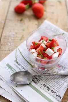 Salade de fraises à la mozzarella