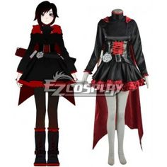 RWBY Red Ruby Rose Cosplay Costume