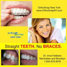 #OrthoSnapNewYork offers true and only effective alternative to traditional braces | invisible, convenient, removable and as effective as metal braces | #Manhattan and #Brooklyn #NewYork | Dr. Irina Feldbein | 1.844.678.4676 | http://www.OrthoSnapNY.com/ | #ClearBraces #InvisibleBraces #AdultBraces #StraightTeeth #TeethStraightening #BracesAlternative #StraightenTeethWithoutBraces #InvisalignAlternative #braces #orthosnap