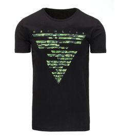 Čierne pánske tričko s potlačou.. Vyrobené z mäkkého, na dotyk príjemného materiálu. Okrúhly dekolt. Pohodlný strih. Absolutný hit pre túto sezónu. Vhodné na celodenné nosenie.