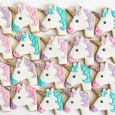 @bakedideas always kills it with the unicorn emoji cookies!!!! So much cute!  #awwsamsweettooth