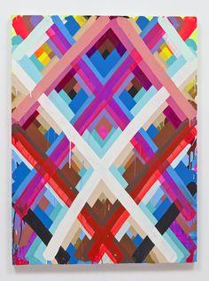 Street Artist Maya Hayuk discusses her new canvas work at Cinders Gallery.