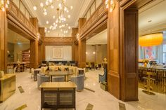 A brand new five-star hotel has opened its doors in the Croatian capital Zagreb on Friday. Amadria Park Hotel, located in the heart of downtown Zagreb on the Dalmatia Croatia, Five Star Hotel, Park Hotel, Places, Table, Photos, Furniture, Home Decor, Pictures