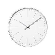 Junghans - Max Bill Wanduhr, Strich, Ø 22 cm Weiß T:4 H:22 B:22