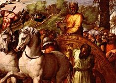 King David and his triumph in war.