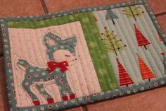 christmas mug rugs - Google Search