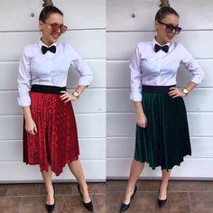 NOVINKA kvalitné zamatové sukňe v krásnych farbách  veľ.UNI ( má v páse gumu ) vhodná pre XS-S-M-L 1850 dodanie do 24hod.  www.tvojstyl.fashion #christmas#collection