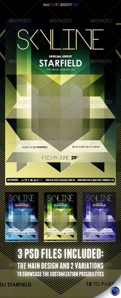Geometric futuristic poster/signage
