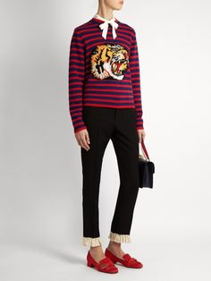 Shop this month's womenswear deliveries from MATCHESFASHION. Luxury Designer clothes, shoes, bags and accessories from designer brands including DVF, Christian Louboutin and Alexander McQueen. Loafers For Women Outfit, Loafers Outfit, Gucci Marmont, Street Look, Suede Loafers, Retro Aesthetic, Leather Cover, Sweater Weather