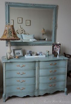 Adore this Duck Egg dresser and mirror