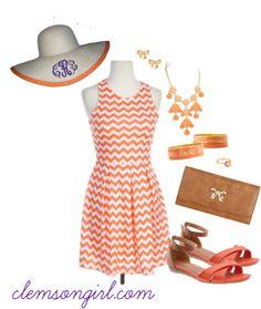 Clemson Girl Gameday Look - Derby Darling #easter #carolina #cup