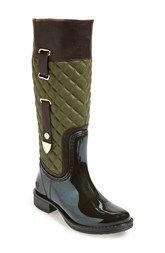 Posh Wellies 'Quizz' Quilted Tall Rain Boot (Women)