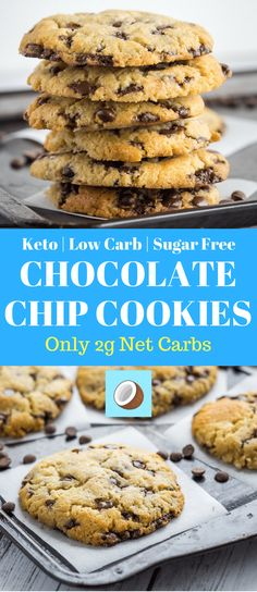 Keto Chocolate chip cookies are a big favorite amongst the ketogenic community. … Keto Chocolate chip cookies are a big favorite amongst the ketogenic community. Low carb cookies are a perfect recipe to make for any occasion, such an easy keto dessert. Keto Cookies, Sugar Free Cookies, Keto Chocolate Chip Cookies, Dessert Chocolate, Chocolate Chocolate, Chocolate Frosty, Almond Cookies, Pumpkin Cookies, Brownie Cookies