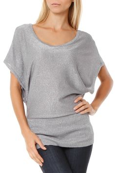 Di Firenze Kelly Top In Gray - Beyond the Rack $20