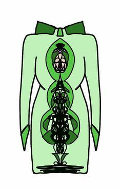 Dress green skull
