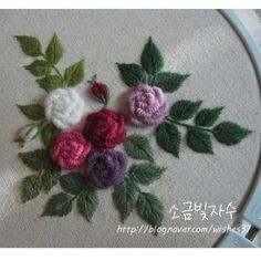 Your place to buy and sell all things handmade Bullion Embroidery, Hand Embroidery Videos, Hand Embroidery Stitches, Silk Ribbon Embroidery, Hand Embroidery Designs, Embroidery Techniques, Cross Stitch Embroidery, Bordado Floral, Creative Embroidery