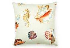 Shell Outdoor Pillow, Multi