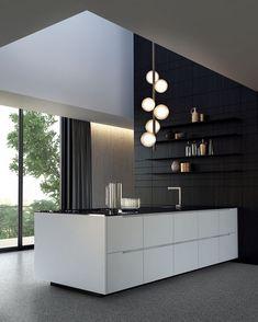 534 Likes, 1 Comments - Interior Luxury Interior Design, Home Interior, Kitchen Interior, Interior Architecture, Kitchen Design, Dark Interiors, Office Interiors, Design Your Dream House, House Design
