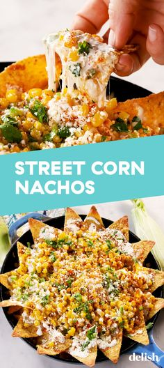 Corn Nachos Will Disappear In SECONDSDelishStreet Corn Nachos Will Disappear In SECONDSDelish Looking for what to do with leftover Chilli? Look no further than these stuffed garlic dough balls! Easy cheesy finger food doesn't get more delicious than this! Mexican Dishes, Mexican Food Recipes, New Recipes, Vegetarian Recipes, Cooking Recipes, Favorite Recipes, Healthy Recipes, Mexican Corn, Best Mexican Food