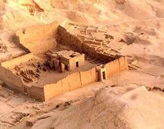 Egypt Picture - Hathor Temple at Deir el Medina from Balloon