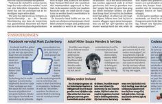 I'm Mark Zuckerberg publicity stunt on De Morgen Belgium.