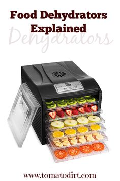 How food dehydrators work when you're drying tomatoes: food dehydrator parts, dehydrator designs. Make Sun Dried Tomatoes, Growing Tomatoes, Tomato Vine, Tomato Seeds, Dehydrator Recipes, Small Space Gardening, Roasted Tomatoes, Canning Recipes, Food Storage