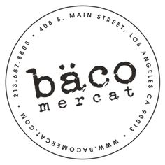Bäco Mercat - Josef Centeno.  The drinks are crafted carefully and the bacos(taco/something else) are amazing.  Great fusion blend of carnitas and soft pita bread...