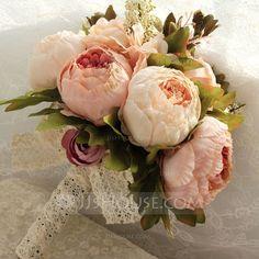 Simples et élégant Rond Satiné Bouquets de mariée/Bouquets de demoiselle d'honneur (123080413)