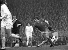 Emlyn Hughes in action for Liverpool during the 1974/75 season.