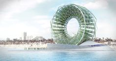 The Land Art Generator Initiative announced the winners of the 2016 Santa Monica competition: art installations generating renewable energy or drinking water. Renewable Energy, Solar Energy, Solar Power, Wind Power, Future Energy, Vertical Farming, Design Fields, Design Competitions, Alternative Energy