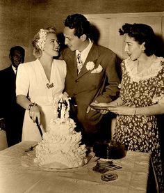 Lana Turner and Stephen Crane wedding 1942