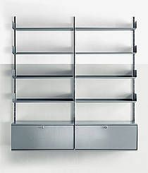 606 shelving system by dieter rams 1960 vitsoe regal system made in germany shelving. Black Bedroom Furniture Sets. Home Design Ideas