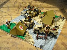 Lego LRDG base camp!