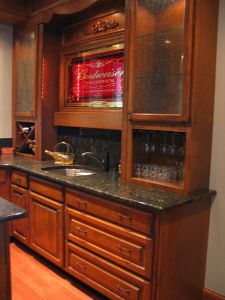Custom Wet Bar; Custom Wood Creations LLC; Huntersville, NC