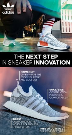 The NMD features full-length boost™, returning energy for every step you take. The upper is made in flexible, breathable knit material with synthetic nubuck and premium leather details. Made for the urban nomad. Find it at adidas.com.