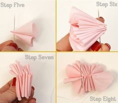 paiges of style: DIY Fabric Flower Cupcake Topper Felt Flowers, Diy Flowers, Fabric Flowers, Paper Flowers, Tissue Paper Pom Poms Diy, Tshirt Garn, Fabric Flower Tutorial, Flower Cupcakes, Diy Ribbon