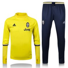 620fc4543c3 Juventus Yellow Training SUIT  Jacket and Pants  Dybala Marchisio Chiellini  soccer jersey uniforms