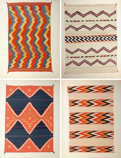 For the Living Room Floor - love these geometric patterned rugs and colours