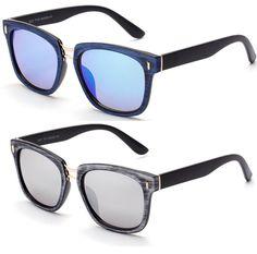 JONTE Wood Texture Horn Square Frame Sunglasses Men Women Retro Vintage Glasses #JONTE #Square